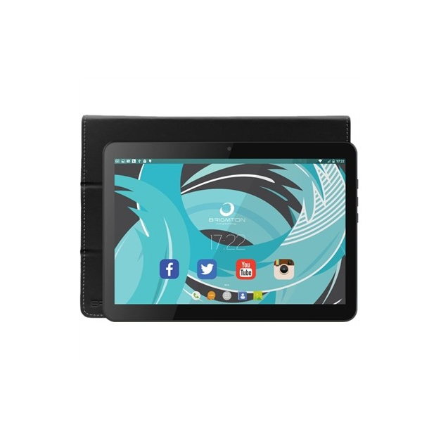 Tablet con Custodia BRIGMTON BTPC-1021N+BTAC108N 10.1� IPS 1 GB RAM 16 GB Android 5.1 Lollipop Quad Core Nero