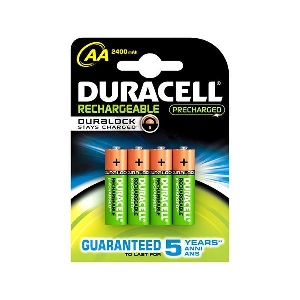 Batterie Ricaricabili DURACELL AA NiMh 2400 mAh (4 pcs)