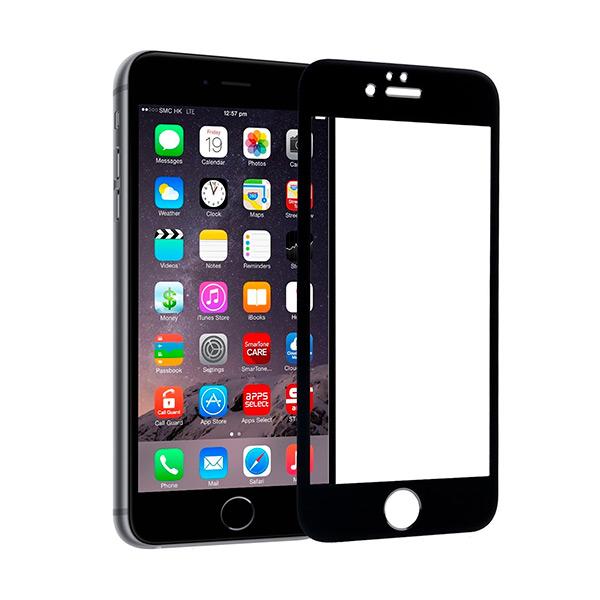 Protector de Pantalla Cristal Templado para Móvil Ref. 101653 4D iPhone 6 Negro