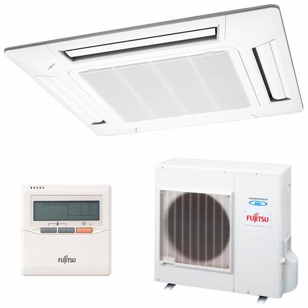 Condizionatore Fujitsu AUY-100UIA Cassette Inverter A++ 8600 fg/h Freddo + calore Bianco