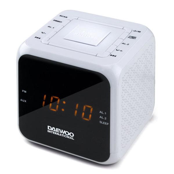 Radio Sveglia Daewoo DCR-450 Bianco