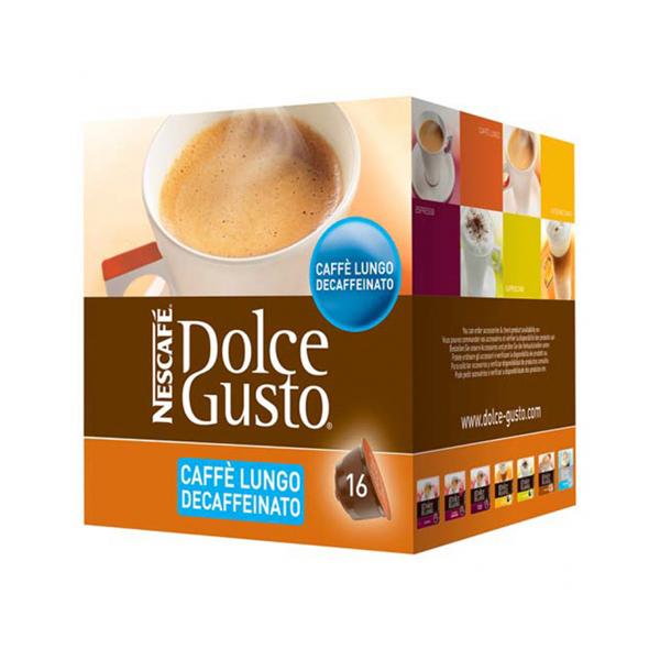 Capsule di Caffè con Contenitore Nescafé Dolce Gusto 94331 Caffè Lungo Decaffeinato (16 uds)
