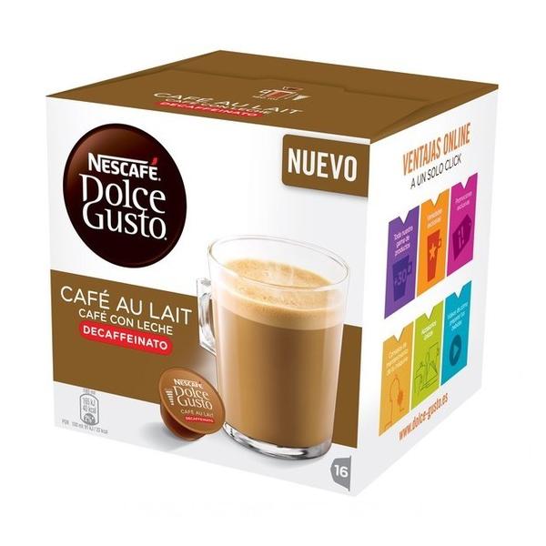 Capsule di Caffè con Contenitore Nescafé Dolce Gusto 97934 Café Au Lait (16 uds) Decaffeinato