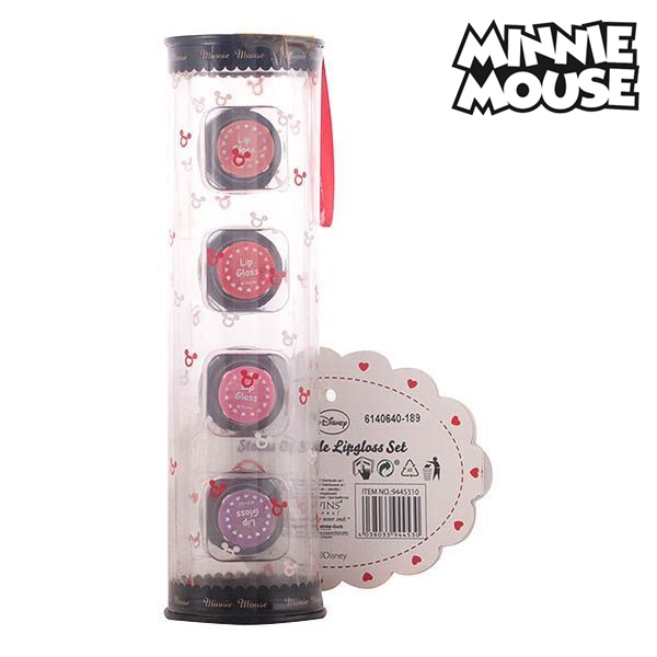 Minnie Mouse - BEAUTY BOWS LIP COMPACTS CASE 3 pz