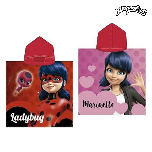 Poncho-Asciugamano con Cappuccio Lady Bug 778