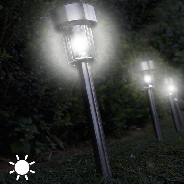 Luz Solar Circular Antorcha Oh My Home (pack de 5)