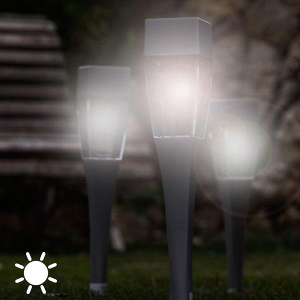 Luz Solar Cuadrada Antorcha Oh My Home (pack de 4)