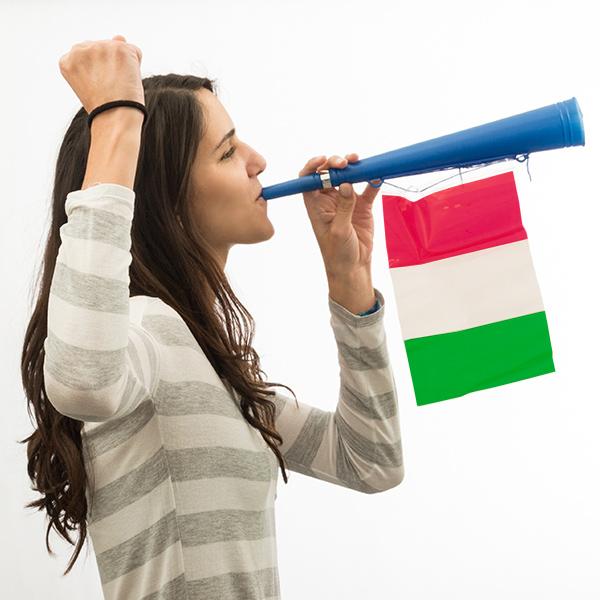 Trombetta da Stadio Bandiera dell'Italia