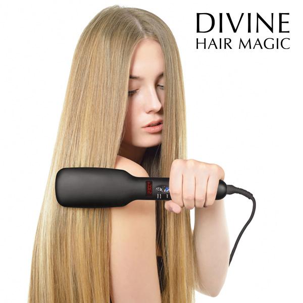 Električna Krtača za Ravnanje Las Iondict Divine Hair Magic