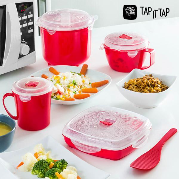 Set de Cocina al Vapor para Microondas  Tap It Tap (11 piezas)
