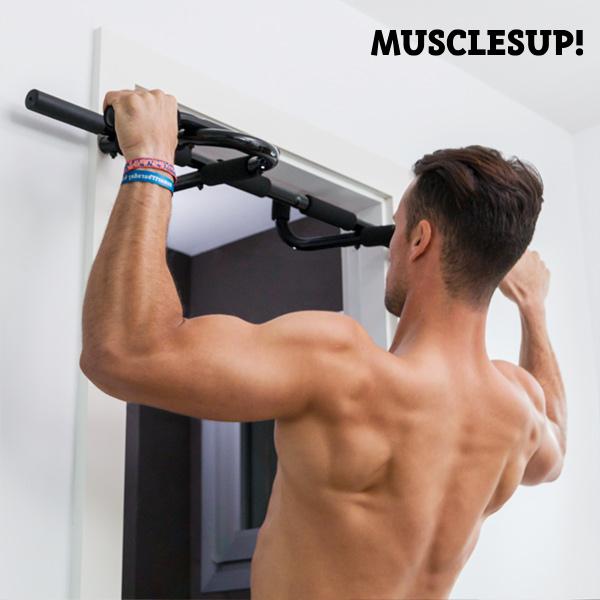 Barra de Dominadas y Ejercicios Muscles Up! Pro