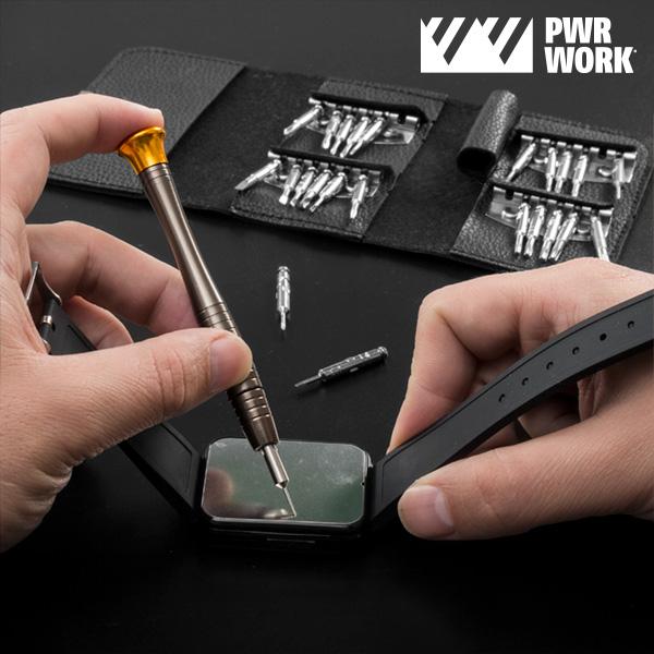 Kit de Bolsillo con Destornilladores de Precisión PWR Work (25 piezas)