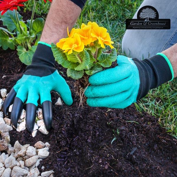 Guantes de Jardinería con 4 Garras para Cavar Garden & Greenhouse