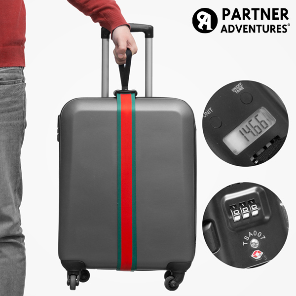 Cinta per Valigie con Bilancia e Codice di Sicurezza Partner Adventures