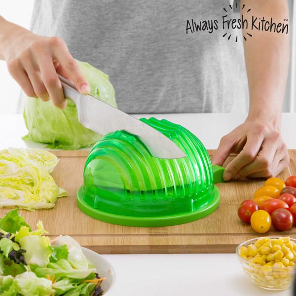Stampo per Lavare, Colare e Tagliare Velocemente Insalate Quick Salad Maker