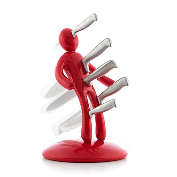 Juego de Cuchillos con Portacuchillos Vudú InnovaGoods (6 Piezas) (6)