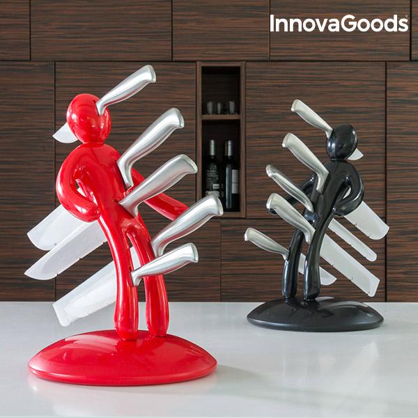 Juego de Cuchillos con Portacuchillos Vudú InnovaGoods (6 Piezas) (4)
