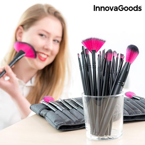 Set de Pinceles y Brochas de Maquillaje InnovaGoods (25 Piezas)