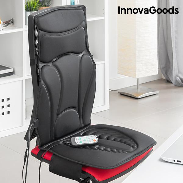 Siège de Massage Thermique Shiatsu InnovaGoods 20W Noir