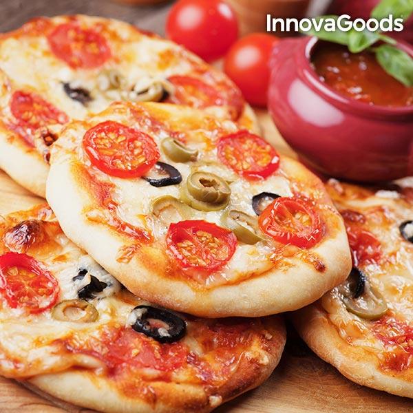 Four pour Mini Pizzas avec Livre de Recettes Presto! InnovaGoods 700W Rouge Noir