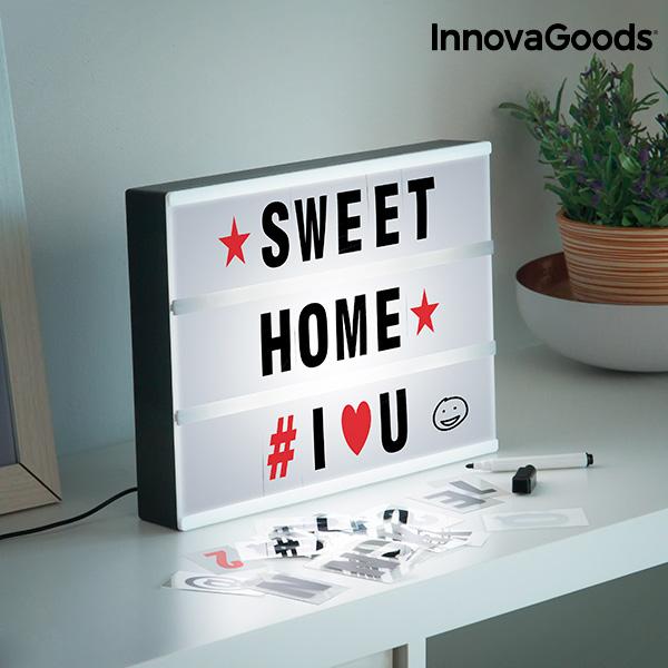 LED Škatla za Pisanje Sporočil Cinema InnovaGoods