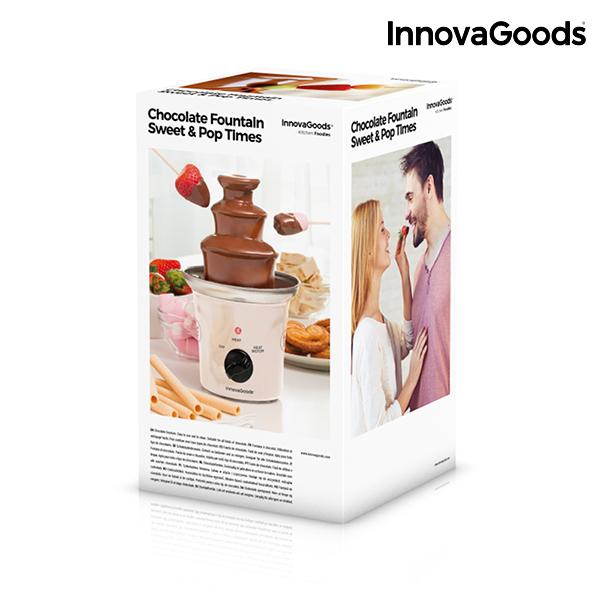Fontaine de Chocolat Sweet & Pop Times InnovaGoods 70W Blanc Acier