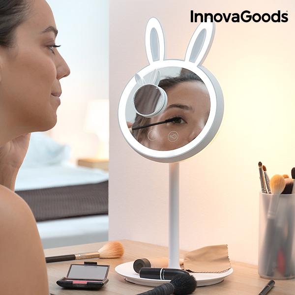 Specchio-Lampada LED per Truccarsi 2 in 1 Mirrobbit InnovaGoods