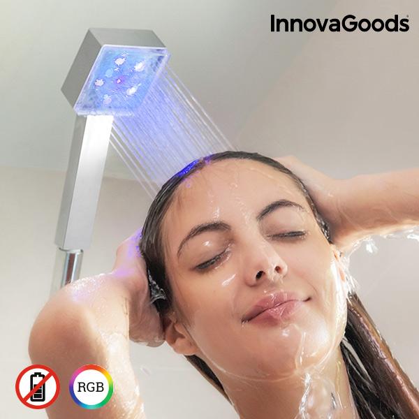 Eco LED Shower con Sensore di Temperatura Square InnovaGoods