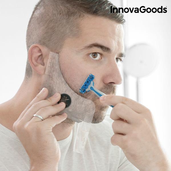 Šablona za Oblikovanje Brade Hipster Barber InnovaGoods
