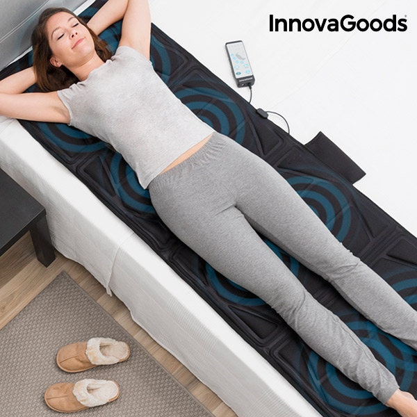 Tappetino Massaggiante Corpo Relax Cloud InnovaGoods 14W Nero