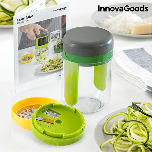 Accessorio per Grattugiare e Tagliare le Verdure a Spirale con Ricettario InnovaGoods