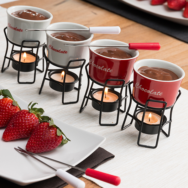 Mini Fondues Chocolat Bravissima Kitchen (pack de 4)