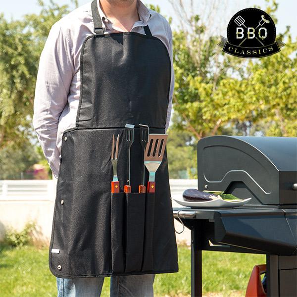 Utensilios para Barbacoas y Delantal BBQ Classics