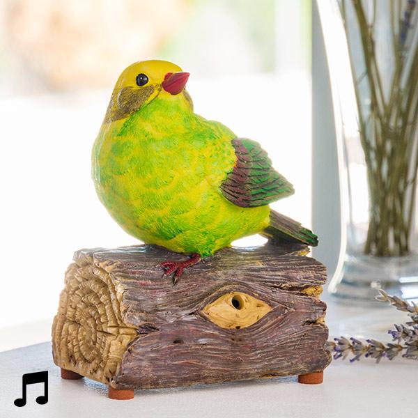 Pájaro Decorativo con Sonido y Sensor de Movimiento Oh My Home