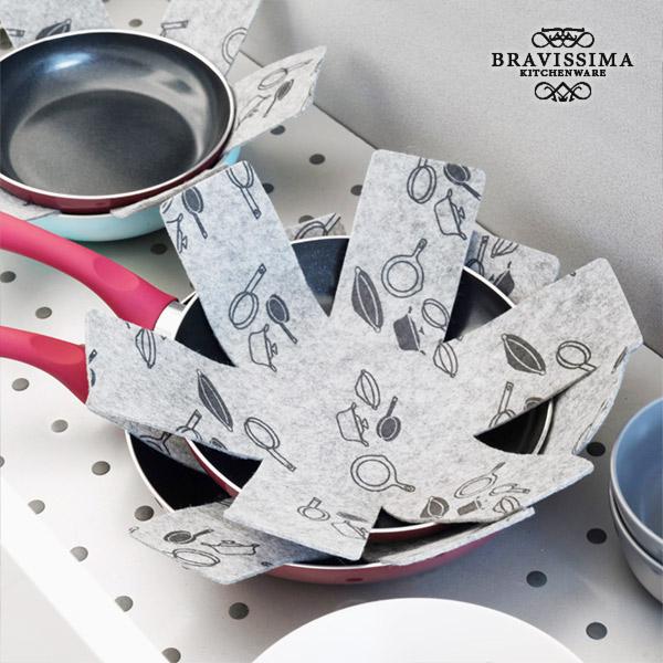 Protectores de Sartenes Bravissima Kitchen (pack de 3)
