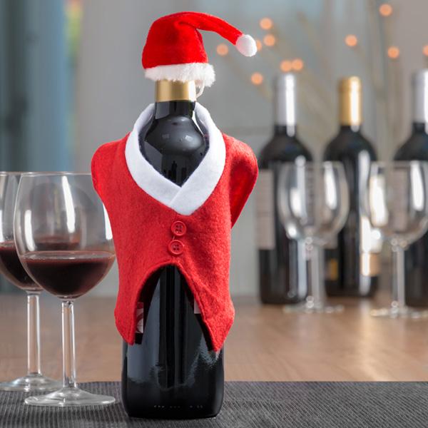 Božičkova Kapa in Jopič za Steklenice
