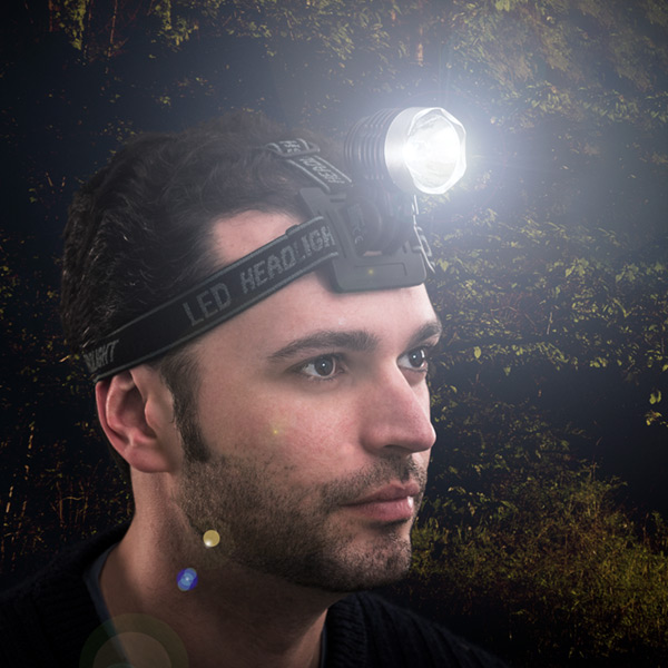 Linterna LED para Cabeza o Casco Adventure Goods
