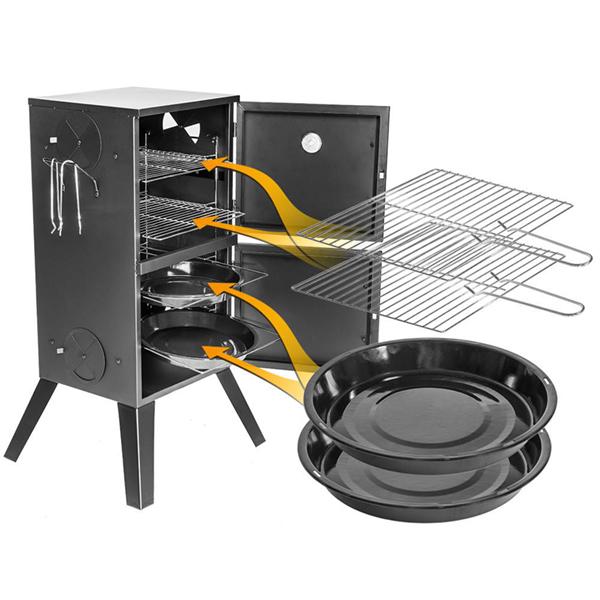 Ahumador a Carbón Vertical BBQ Classics (5)