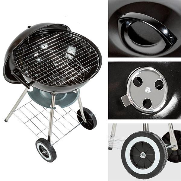 Barbacoa de Carbón con Tapa y Ruedas BBQ Classics (4)