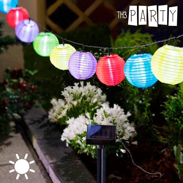 Guirnalda Solar con Farolillos de Colores Th3 Party (10 LED)