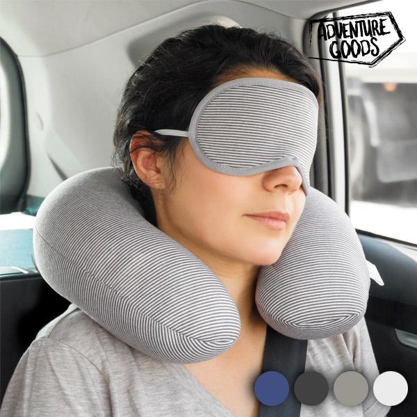 Adventure Goods Potovalna Blazina za Vrat in Maska za Oči