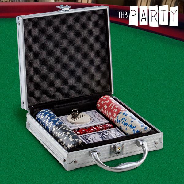 Gioco Poker con Valigetta Deluxe Th3 Party (100 fiche)