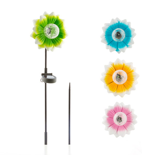 Flor Solar con LED Multicolor Oh My Home (1)