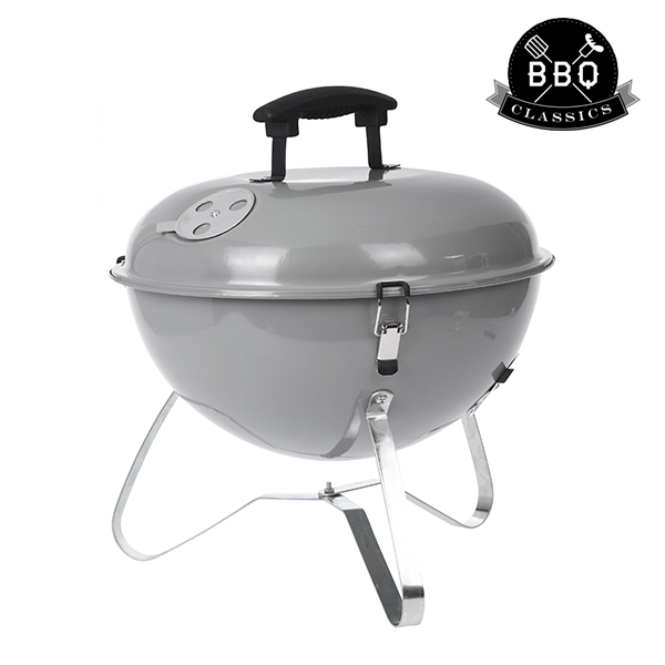 Barbecue Portatile a Carbone con Coperchio BBQ Classics