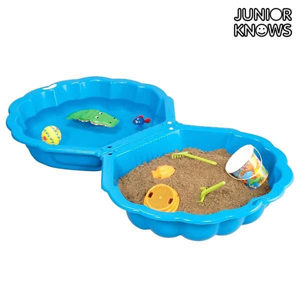 Scatola di Sabbia per Bambini Conchiglia Junior Knows Blu