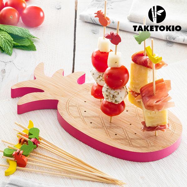 Set di Bambù per Aperitivi Ananas Take Tokio (16 Pezzi)