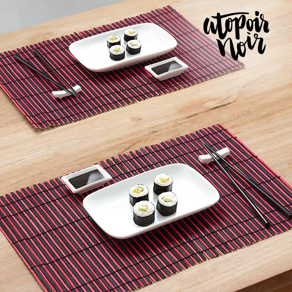 Set per Sushi Atopoir Noir (12 Pezzi)