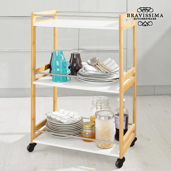 Carrello da Portata in Bambù Bravissima Kitchen