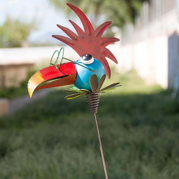 Pájaro Metálico Decorativo para Jardines Oh My Home