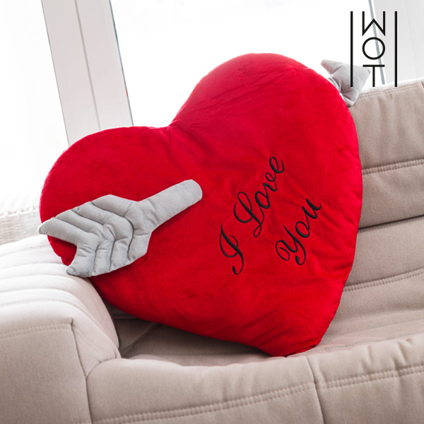 Cuscino Cuore con Freccia I Love You Wagon Trend (60 cm)